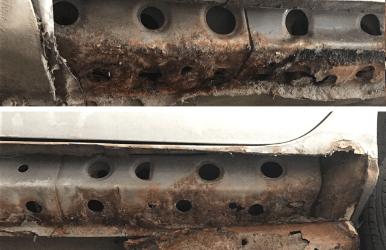 Ремонт порогов автомобиля в Томске